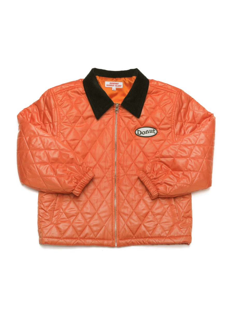 QUILTED ZIP JACKET [Orange]